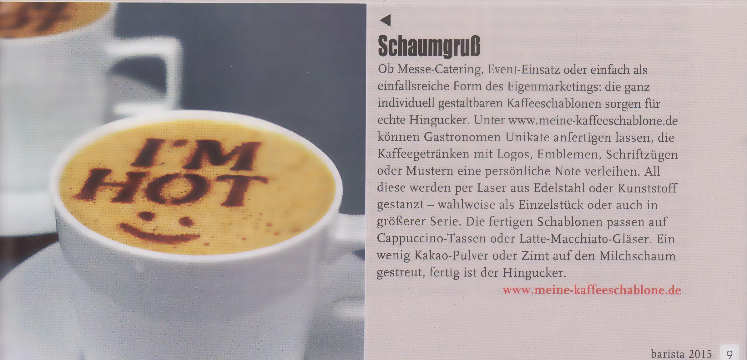barista - Das Kaffeemagazin