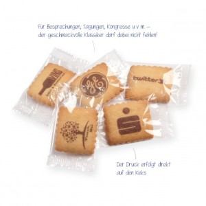 Butterkekse mit Logo